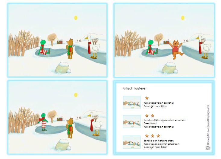 Kritisch luisteren | Thema WINTER - Oefening met plaatjes van Kikker en zijn vriendjes