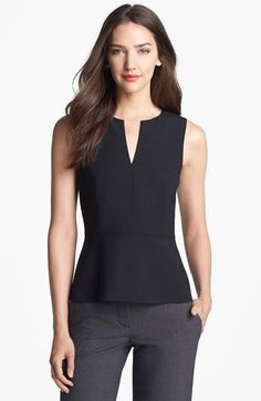 Theory 'Etia C.' Peplum Top available at #Nordstrom
