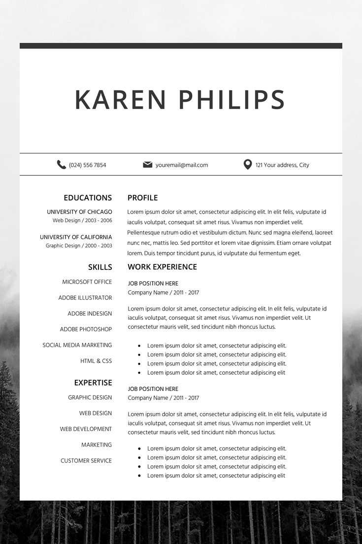 Choose from over 20 professionally designed free resume