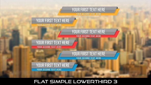 Flat Simple Lowerthird 3  6 Lowerthirds | Full HD 1920×1080 | Quicktime PNG alpha codec | Each 10 seconds.  If you want to change the color, you can change with hue saturation.  #envato #videohive #motiongraphic #aftereffects #animatedlowerthird #broadcast #caption #color #corporate #elegant #flat #modern #presentation #professional #simple #television #text #title #youtube