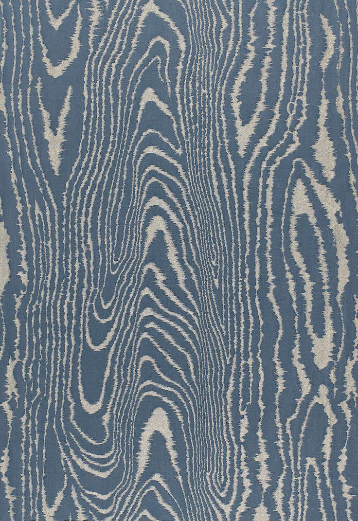 Fabric Faux Bois Weave In Midnight Schumacher