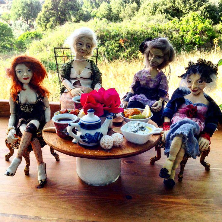 CavideninKadınları, ceramic, art, figure, design, dollart, artdoll, seramik, clay, Cavide Yükseler, enjoy, friends, Women, woman