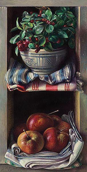 Jef Diels - Kastje met sneeuwbes en appels