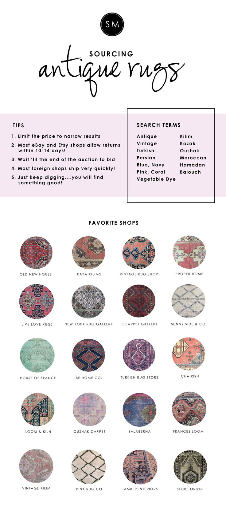 Studio McGee | The Vintage Rug Shop listed as a favorite source for vintage rugs!