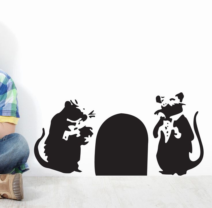 Banksy Rats In Hole Wall Art Sticker Decal Ba30 Part 70