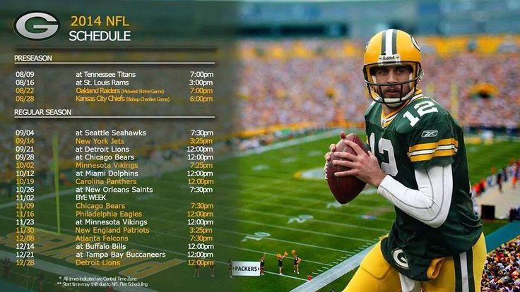 2014 Packer schedule at a glance
