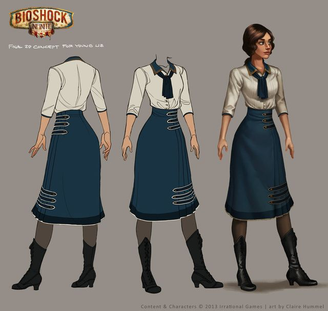 Designing The Dresses For BioShock Infinites Elizabeth (And The Lutece Twins)