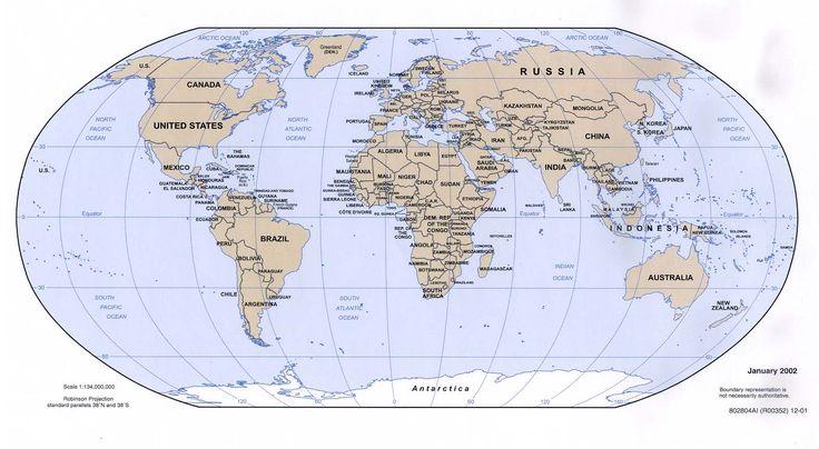 world atlas map | World Map (Political Map) : Worldofmaps.net - online Maps and Travel ...