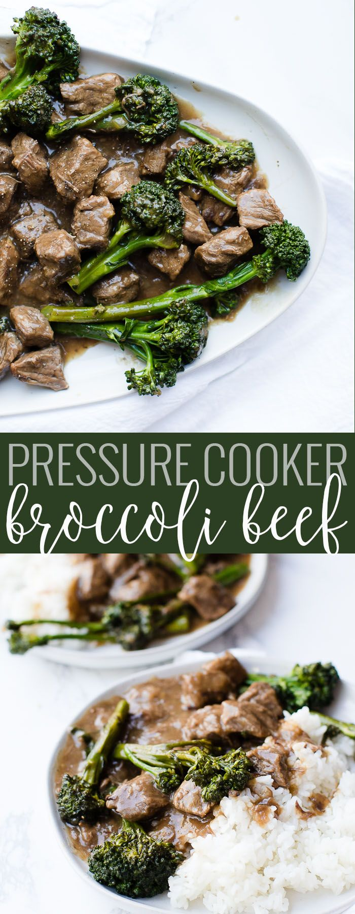 Easy, fast delicious beef and broccoli recipe. Also included is instructions on how to adapt the recipe for pressure cooker beef and broccoli.