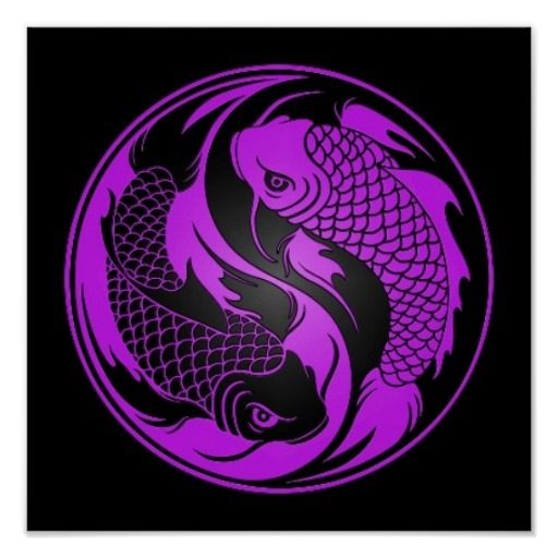 106 best images about yin yangs on pinterest dolphins for Purple koi fish for sale