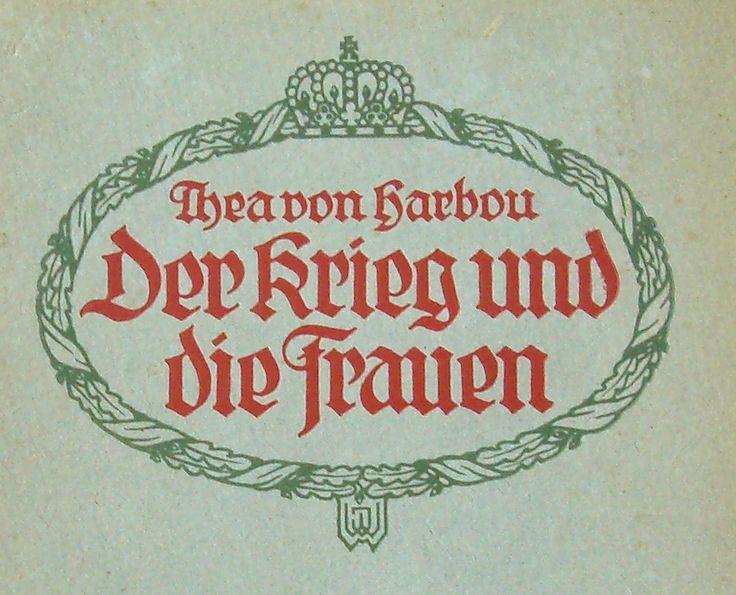Cover-Ausschnitt eines Thea von Harbou-Buches!