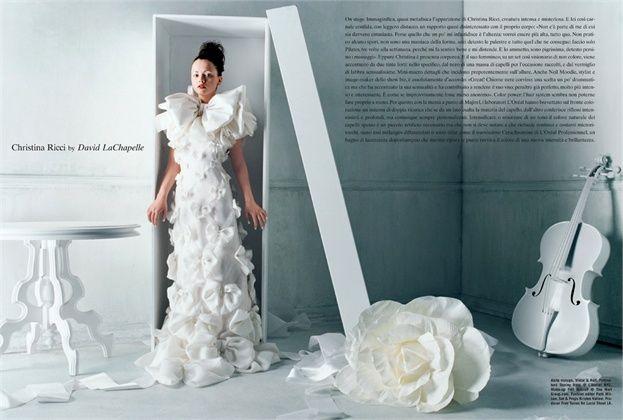 #davidlachapelle #white #dress #viktorandrolf #christinaricci