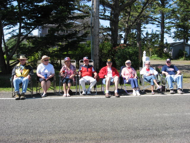 Watching the 4th of July parade.