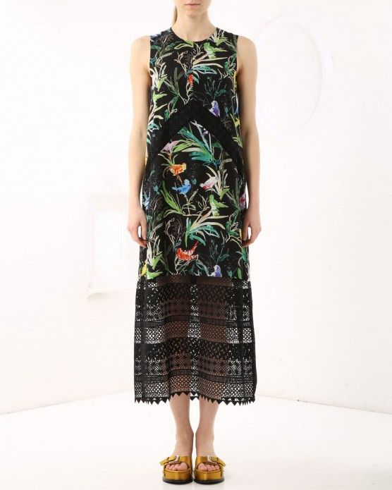 Lace dress with floral print N°21 #N21 #tropical #dress #fashion #style #stylish #love #socialenvy #me #cute #photooftheday #beauty #beautiful #instagood #instafashion #pretty #girl