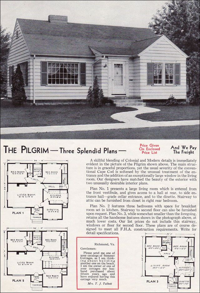 107 best vintage aladdin homes company floor plans mail for 1940 house plans