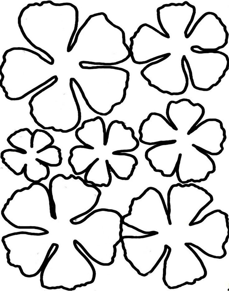 140 best images about DIY Flower Templates – Flower Petal Template