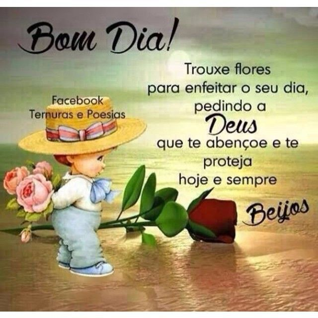 Bom dia !!! Hoje é sexta-feira , mais um dia de alegria !!!