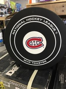 """Montreal Canadiens Habs Hockey Toaster.  Toast pops with the letter """"C"""" on the toast."""