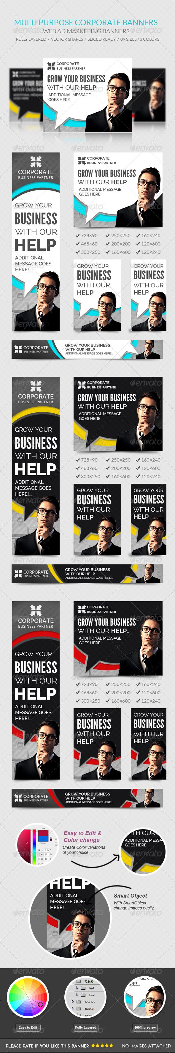 Corporate Web Banners Template PSD   Buy and Download: http://graphicriver.net/item/corporate-banners/7981256?WT.ac=category_thumb&WT.z_author=msrashdi&ref=ksioks