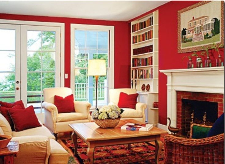 66 best red wall pared roja images on Pinterest Red walls