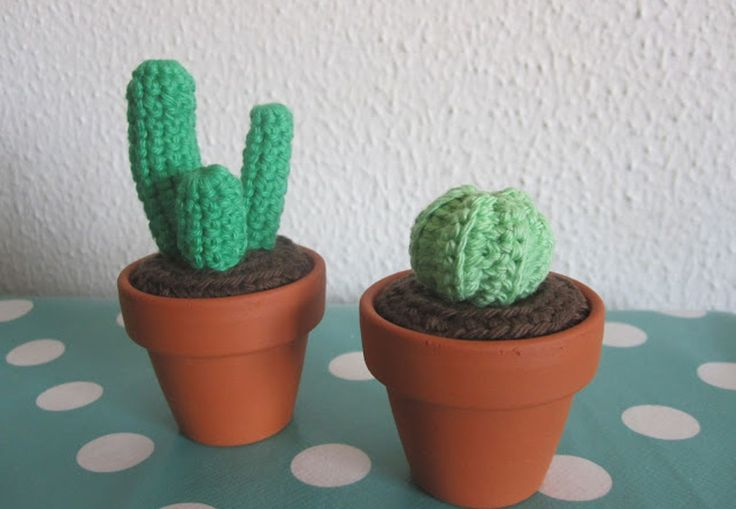 Hækle opskrift mini kaktus   Sådan hækler du kaktus     Boligmagasinet.dk