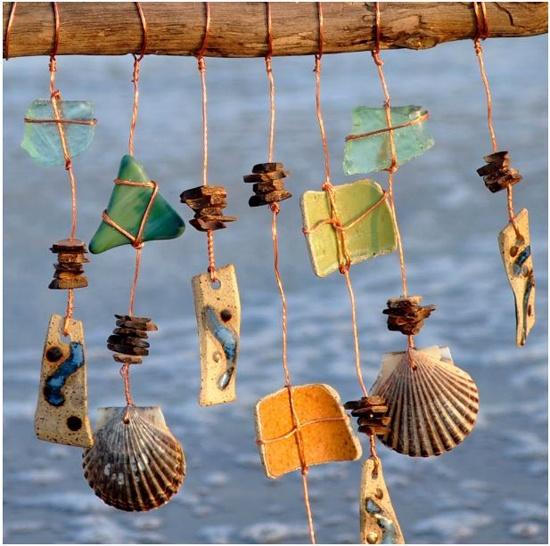 decorar ventanas con conchas
