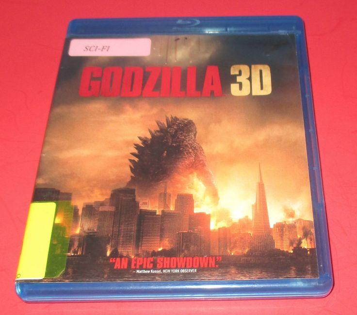 GODZILLA - (3D+ BLU RAY& DVD, 2014) [PG-13] USED- Case Has Flaws FAST SHIP! #Godzilla3D #sicfi #action #godzilla #bryancranston #aarontaylorjohnson #elizabetholsen #movies http://www.ebay.com/usr/vinylrockretro