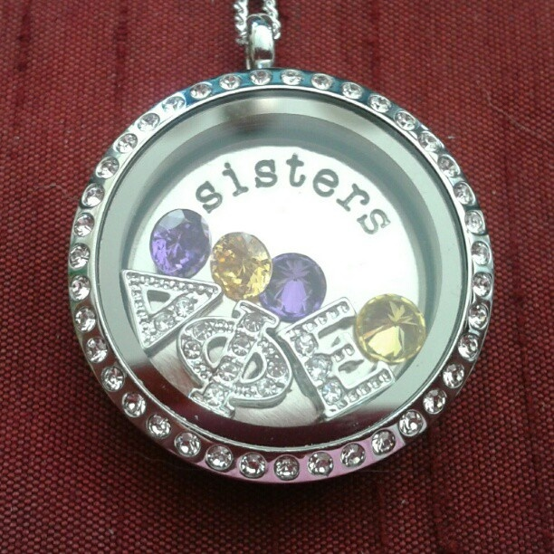 Origami Owl - Delta Phi Epsilon Sorority Sisters  The perfect gift for yourself, your lil sis or your big sis!    Hootylicious  www.Hootylicious.OrigamiOwl.com