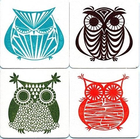 #owls #coaster: Tattoo Ideas, Gocco Prints, Owl Coasters, Chipboard Coasters, A Tattoo, A Frames, Kerry Beari, Art Projects, Heart Owl