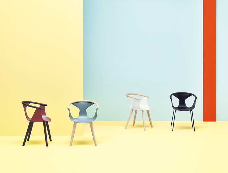 Fox is an #elegant collection of #armchairs having a distinctive character and contained dimensions. An identifying #design featured by an harmonious mix of materials and contrasts among #geometric lines. #Pedrali #SalonedelMobile #MDW17 #design Patrick Norguet #wood #plastic #colourfull #architecture #interiordesign #white #black #sand #marsala #smokyblue