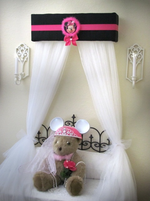MINNIE MOUSE Bed Crown Canopy Princess Disney with Curtains. 17 Best ideas about Minnie Mouse Bedding on Pinterest   Minnie