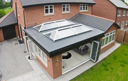 flat roof with skylights - Google Search