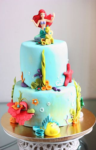 Ariel cake by kdjokova, via Flickr. 21st birthday cake please....