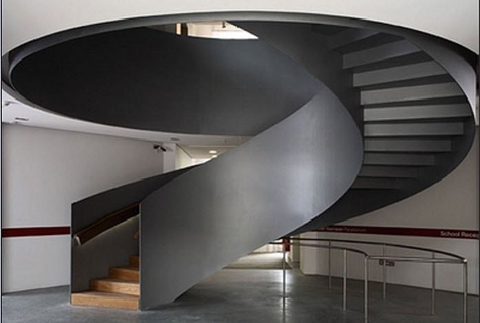 circular design staircase with lateral stringer (wooden steps) TDS Midlands