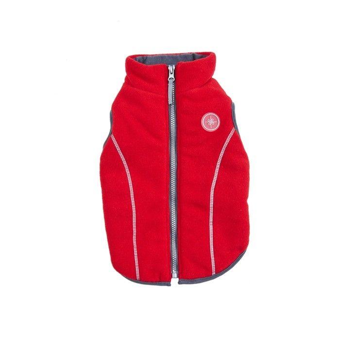 Good 2 Go Reflective Zip Fleece Dog Jacket Red Red Jacket Dog Jacket Fleece