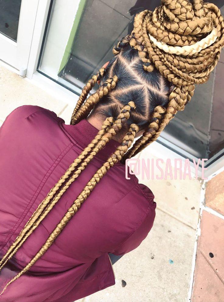 Nice jumbo box braids by - https://blackhairinformation.com/hairstyle-gallery/nice-jumbo-box-braids/