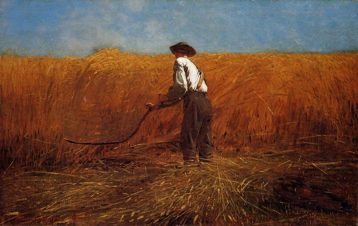 "The Veteran in a New Field, 1865 by Winslow Homer ""The Sun will not rise or set without my notice and thanks. "" -Winslow Homer"