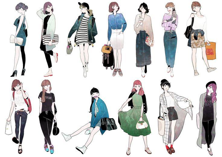 ファッションイラスト詰め合わせ [5]