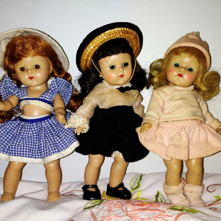 So love getting a collection of dolls or toys from an original owner.  These early Ginny dolls were just listed today in my shop!