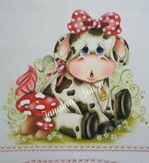 Resultado de imagem para vaca country pintado en tela