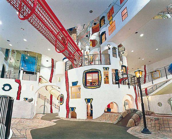 Фриденсрайх Хундертвассер. Детская игровая площадка (Осака, Япония), 1996/1997