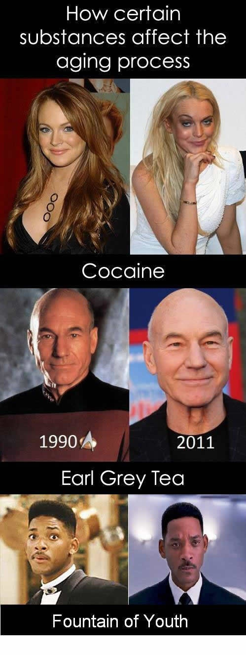 How certain substances affect the aging process | MY LOL  - i haven't found the fountain of youth so Earl Grey Tea it is