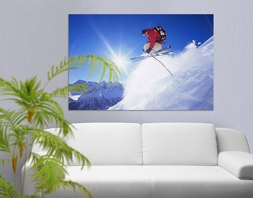 Leinwandbild #Skisprung #Winter #Schnee #Kälte #Wanddeko #skifahrer