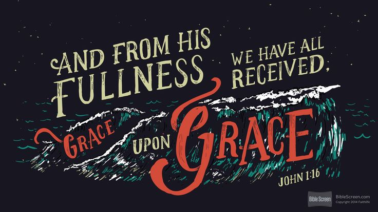 Verse Logo John 1:16 (NIV)...