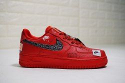 2d5e51adf4c545 Unisex Just do it Nike Air Force 1 Low University Red Black Total Orange  AR7719-106 Men s Women s Casual Shoes