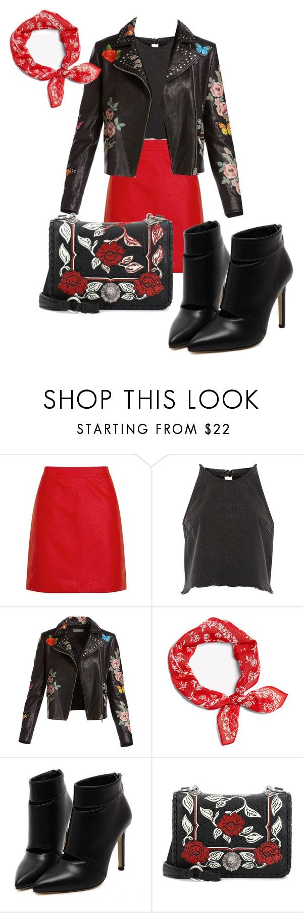 """city lights"" by nover on Polyvore featuring Topshop, River Island, Bagatelle, rag & bone and Miu Miu"