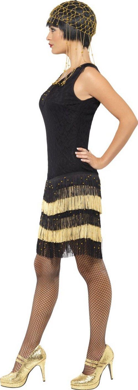 Disfraz charlestón negro y dorado mujer-1