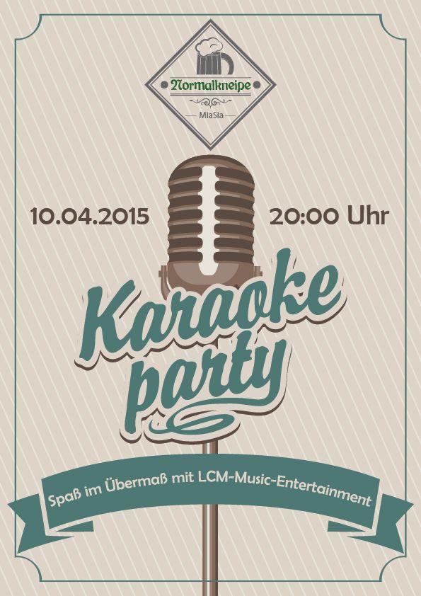 Karaoke-Party in der Normalkneipe