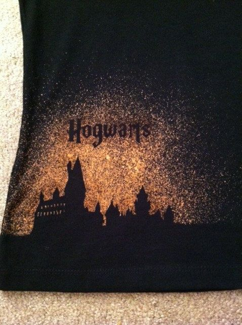 (I like this idea for a pillow!! ) - Harry Potter Hogwarts - hand designed shirt on Etsy, $20.00