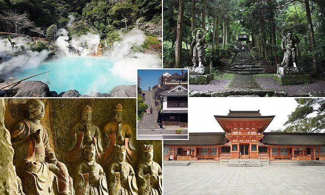 MailOnline Travel reveals how venturing to Oita and its nearby attractions - such as the hot springs of Beppu (pictured) - will give you a deeper understanding of Japan.